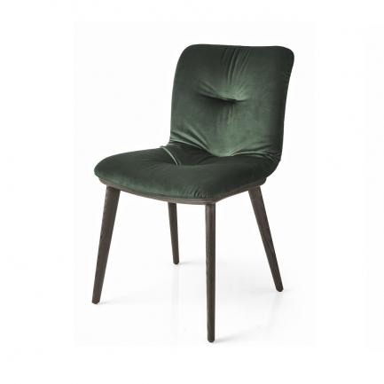 Calligaris Annie Soft Chair-wood legs