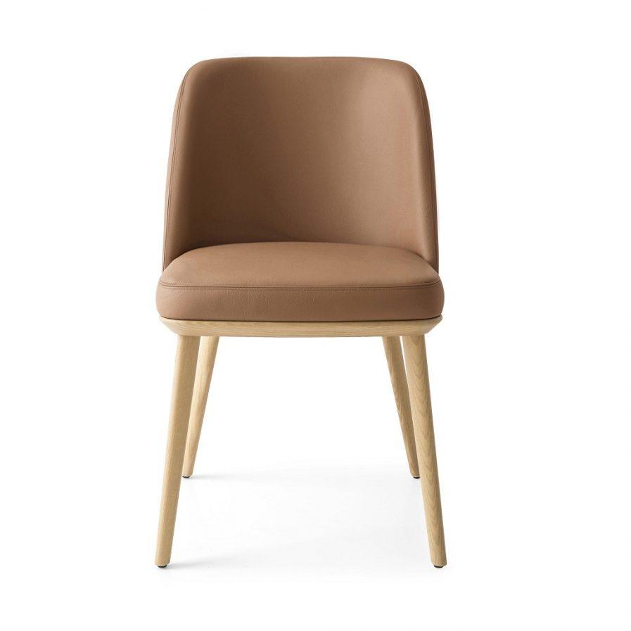 Calligaris Foyer Side Chair_wood legs