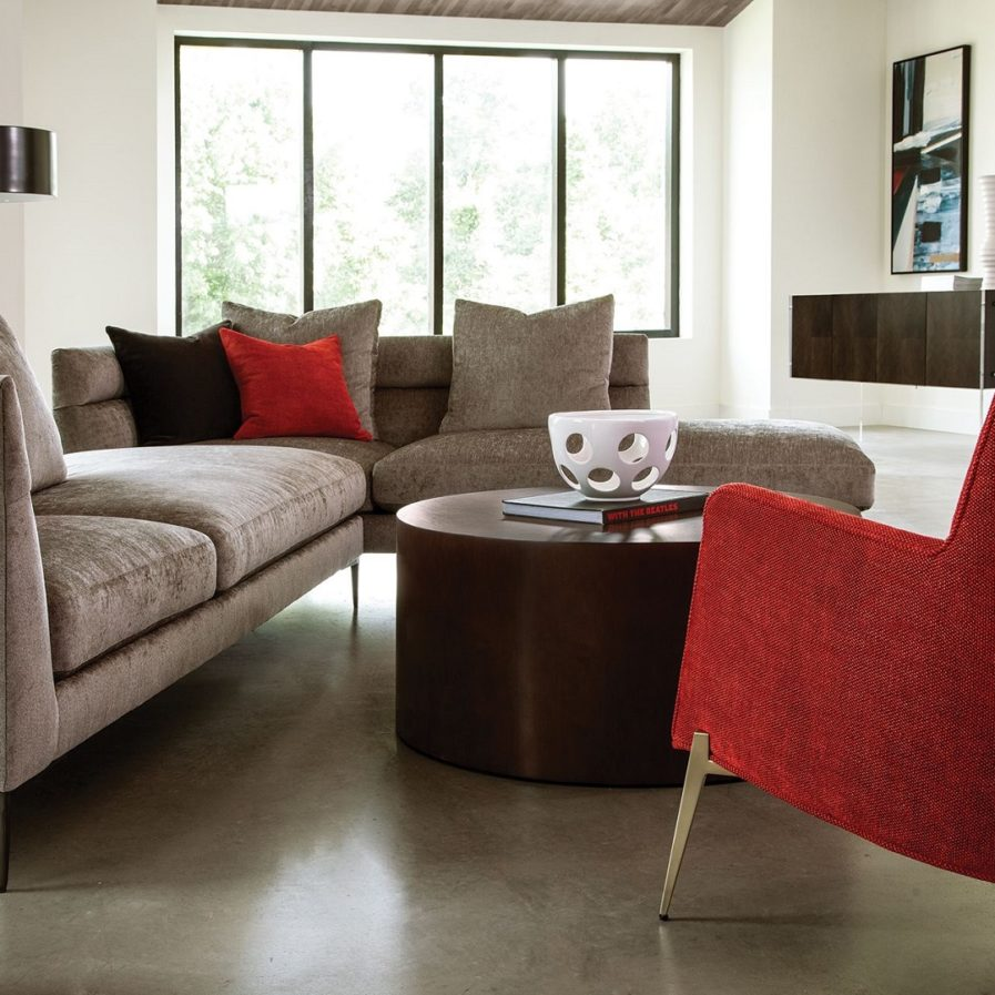 Thayer Coggin Spaced Out Modular Sectional