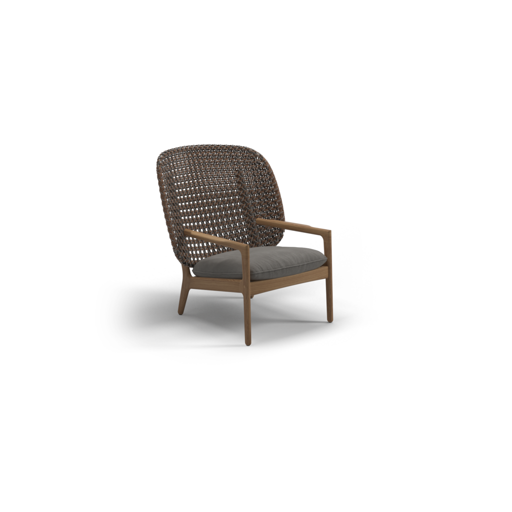 Kay High Back Lounge Chair Ginger Jar Furniture