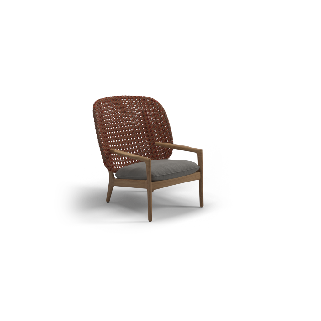 Kay High Back Lounge Chair Ginger Jar Furniture