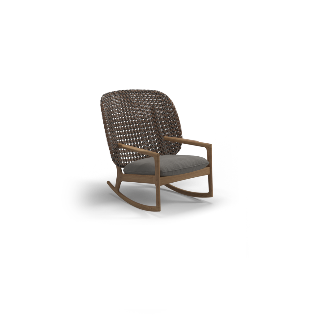 Kay High Back Rocking Chair Ginger Jar Furniture