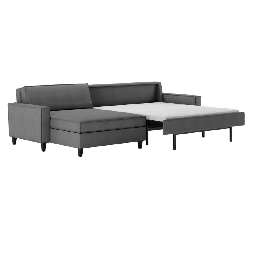 American Leather Mitchell Comfort Sleeper sectional-open