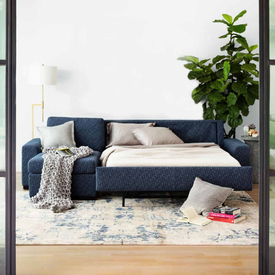 American Leather Olson Comfort Sleeper sectional-open
