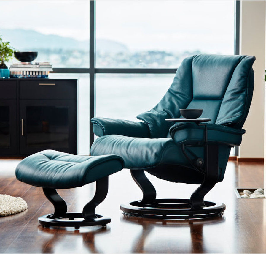 Live Classic Recliner Ottoman Small Ginger Jar Furniture
