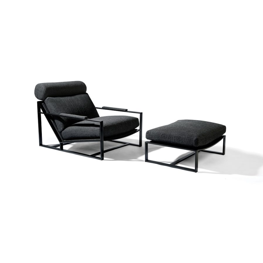 Thayer Coggin Cruisin' Lounge Chair black frame