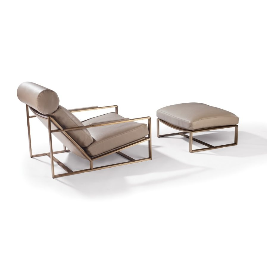 Thayer Coggin Cruisin' Lounge Chair bronze frame
