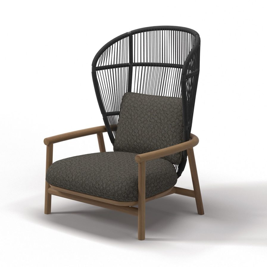Gloster Fern-High-Back-Lounge-Chair-Meteor-Raven